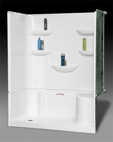OASIS BATH SH4P-6032R-LS ** BASE ONLY WHITE 4PC VURSA SHOWER UNIT RH DRAIN LH SEAT **BASE ONLY** MC395168