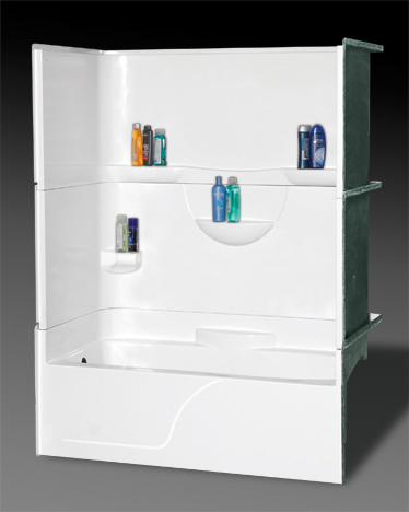 OASIS BATH TS3P-6032R BISCUIT 3PC TUB AND SHOWER GELCOAT RIGHT HAND MC385134
